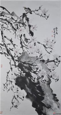 方学奇作品《赏春》 180X97cm
