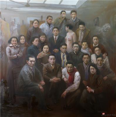 《致敬 上海美专一一刘海粟 师生》200x200 2017